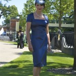 Day 2. Ink Blue dress by Hardy Amies hat by Jane Taylor.