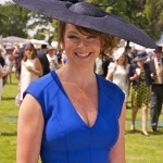 Dress by Amanda Wakeley, hat by Stephen Jones