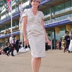 Dress by Suzannah and hat by Jane Taylor
